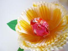 paper baking cup flower valentine