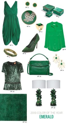 Modern Eve - http://modern-eve.com/trends/pantone-2013-color-of-the-year-emerald/