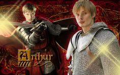 Bradley James as 'King Arthur' in the BBC Series 'Merlin'...  Arthur - Merlin on BBC Wallpaper (2890817) - Fanpop