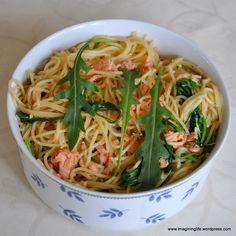 Blitzrezept: Spaghetti  mit Lachs und Rucola