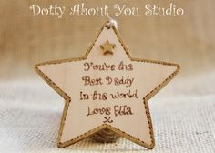 Dads, Grandads, Gold Star, Fathers Day, Birthday Gift, Christmas Gift by DottyAboutYouStudio on Etsy https://www.etsy.com/uk/listing/293127285/dads-grandads-gold-star-fathers-day