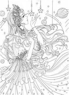 Coloring Book Art, Cute Coloring Pages, Mandala Coloring Pages, Adult Coloring Pages, Dark Art Drawings, Colorful Drawings, People Coloring Pages, Human Art, Line Art