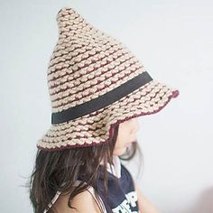 Fashion striped knit bucket hat for kids winter witch hats Knitted Hats, Crochet Hats, Witch Hats, Hats For Sale, Kids Hats, Striped Knit, Little Ones, Bucket Hat, Boy Or Girl