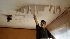 Dining Room Project: Remove Popcorn Ceiling | Hometalk | This popcorn ceiling removal trick is so much simpler than we thought!