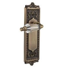 Nostalgic Warehouse Parlour Privacy Door Lever with Egg and Dart Plate Finish: