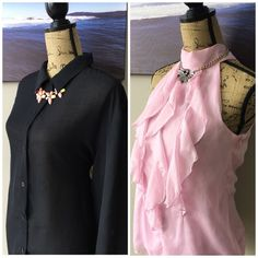 (2pc) BCX & MERONA Pre-Made Blouse Bundle Just an easy way for you to get more bang for your buck. ask all your questions and then let's get these perfect blouses home to you. bundle includes: BCX Pink (L), MERONA (L) Tops Blouses