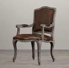 All Leather Seating Take A Seat, Restoration Hardware, Solid Oak, French Vintage, Armchair, Dining Chairs, House Design, Interior Design, Leather