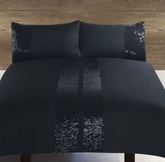 Razzle Black Duvet Cover Set - King Size yes please! But would need Cali King size :/ Next Bedroom, Dream Bedroom, Home Bedroom, Master Bedroom, Bedroom Decor, Bedrooms, Black Duvet Cover, Duvet Cover Sets, Draps Design