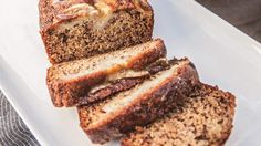 Karen Martini had to persuade her sister to share this with you all . This version of banana bread is super moist with a finely textured crumb. Healthy Snack Bars, Healthy Cake, Yummy Snacks, Healthy Desserts, Healthy Breads, Easy Bread Recipes, Banana Bread Recipes, Sweet Recipes, Baking Recipes