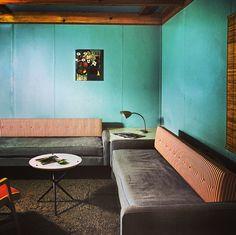 Interior of the Fletcher Motel in Michigan. 1950
