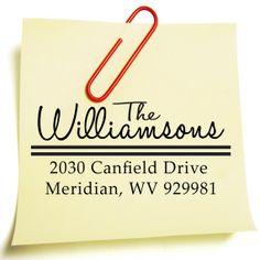SELF INKING Custom Address Stamp - Wedding, Bridesmaid, Housewarming Gift - The Williamsons Design