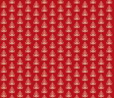 Damask Red fabric by ©_lana_gordon_rast_ on Spoonflower - custom fabric