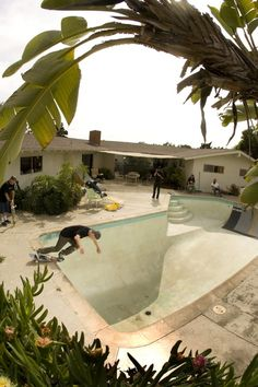 Go swimming? No, go skateboarding!