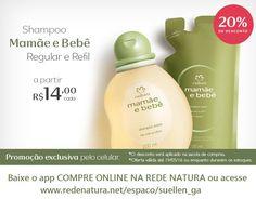 Só hoje, 19/05, #shampoo Natura #Mamãe e #Bebê com promoção exclusiva para comprar pelo seu celular! Baixe o app COMPRE ONLINE NA REDE NATURA ou acesse www.redenatura.net/espaco/suellen_ga A #Natura faz a entrega do pedido na sua casa em todo Brasil, pague com boleto bancário ou divida em até 6x s/juros no cartão (parcela mínima de R$ 30,00) #cabelo