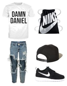 Damn danel by gabbylindsey on Polyvore featuring polyvore, fashion, style, One Teaspoon, NIKE, Brixton and clothing