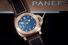 PANERAI Luminor Submersible 1950 3 Days Bronzo PAM671 - The second time of a Luminor Bronzo, now with a Blue dial