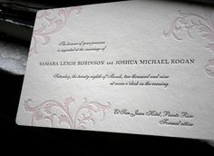 Letterpress wedding invitations By Smock Letterpress Inspirations