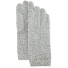 Portolano Cashmere Basic Knit Gloves ($23) ❤ liked on Polyvore featuring accessories, gloves, gray gloves, grey gloves, knit gloves, portolano and cashmere gloves