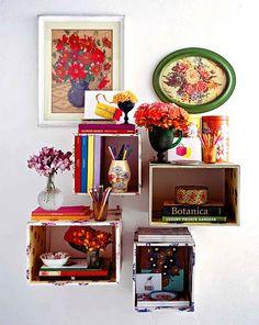 ahsap meyve kasalarindan yapilan ev dekorasyon fikirleri (7) | Hobi Fikirleri Yaratıcı El İşi Örnekleri