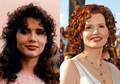 Geena Davis Plastic Surgery Before and After Images - Celebrity Plastic Surgery Plastic Surgery Photos, Celebrity Plastic Surgery, Celebrity Teeth, Before And After Photoshop, Chin Implant, Geena Davis, Celebrities Before And After, Katie Couric, Under The Knife