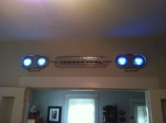 Grille and bezels from a 1962 Chevrolet Corvair Van, the lights can be purchased at Wal-Mart...