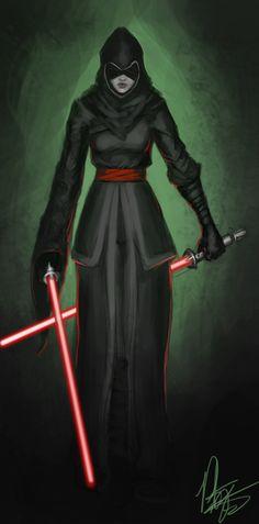 Female Dark Jedi by Peter-Ortiz.deviantart.com on @deviantART
