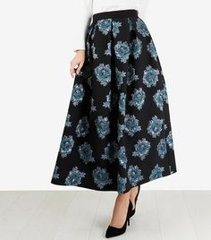 Channel your inner 1950s film star this party season with Closet London's jacquard pleated midi skirt. #ad