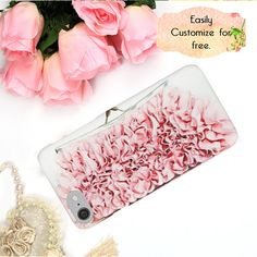 Pink Ruffle Phone Case Personalized Gift for Her Fashion