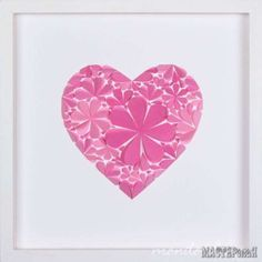 There are so many ways you can use these Paper Flower Wall Art Ideas and we have an easy video tutorial to show you how. Wall Art Crafts, 3d Wall Art, Valentine Decorations, Paper Decorations, Paper Flower Wall, Paper Flowers, Craft Packaging, Altered Canvas, Heart Wall Art