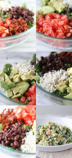 California Club Blue Cheese Chopped Salad had this for dinner we loved it. Salad Bar, Soup And Salad, Blt Salad, Cheese Salad, Jai Faim, Cooking Recipes, Healthy Recipes, Cooking Ideas, Healthy Foods