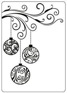 Crafts Too 4 x 6 Embossing Folder - Baubles