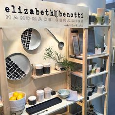 We made it to the nynow gift show and we're having a great time discovering new artists and chatting with makers. Here is @ebenotticeramics lovely booth. by aeolidia