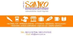 #Promocion #Mercadeo @rsanro Planifica con tiempo tus regalos corporativos SANRO lleva tu marca a tus clientes con detalles utiles y exclusivos Twitter: Representaciones Sanro, C.A. REPRESENTACIONES SANRO, C.A. * http://www.sanro.com.ve  * + 58 (212) 318.7986 / + 58 (212) 910.9302  * rsanro@gmail.com