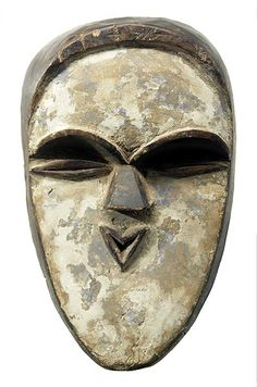 Tsogo masks are controlled by the Bwiti men's initiation society.