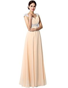 New Sarahbridal Women s Long Chiffon A-line Beading Bridesmaid Dresses Prom  Gowns womens fashion clothing d5e0147ff