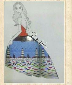 Fashion with imagination # illustration# s.p.creation by sohil jain