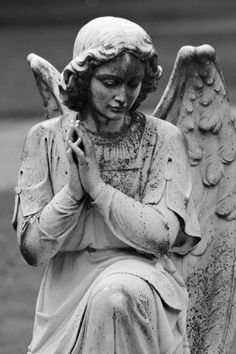 ImageFind images and videos about black and white, angel and statue on We Heart It - the app to get lost in what you love. Cemetery Angels, Cemetery Statues, Cemetery Art, Angels Among Us, Angels And Demons, Guerrero Tattoo, Art Beauté, Ange Demon, Old Cemeteries