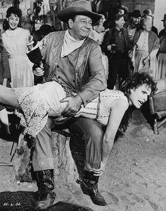 "McLintock!"": John Wayne, Maureen O'Hara | Katherine's shapel… | Flickr John Wayne Quotes, John Wayne Movies, Hollywood Stars, Classic Hollywood, Old Hollywood, Hollywood Icons, Old Movies, Great Movies, Iowa"