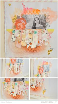 Studio Calico - Tips & Tricks with Wilna Furstenberg --- Love the background effect