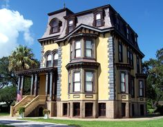 George W. Fulton Mansion, Second Empire Style Victorian House, located in Fulton, Texas. Texas Mansions, Victorian Style Homes, Second Empire, Victorian Architecture, Historical Architecture, Empire Style, Fulton, Historic Homes, Old Houses