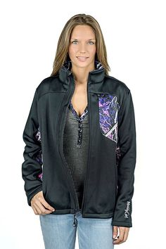 New Moon Shine Camo Muddy Girl Soft Shell Camo Chest online. Softshell Protek jacket with Muddy Girl Camo Accent. Camo Jacket, Hooded Jacket, Bomber Jacket, Camo Swimwear, Camo Lingerie, Muddy Girl Camo, Outdoor Woman, Lounge Wear, Zip Ups