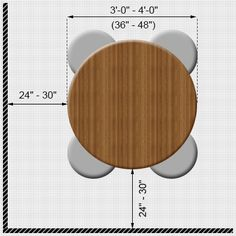 Round dining table measurements