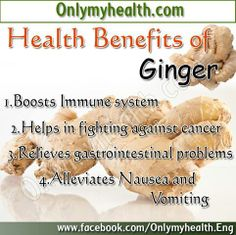 Health Benefits of Ginger!!