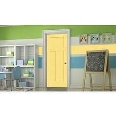 Jeld-Wen Craftsman Marigold Prehung Solid Core 3-Panel Craftsman Interior Door (Common: 36-In X 80-In; Actual: 37.562-In
