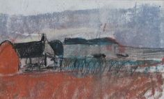 Farm Steading by Joan Eardley Abstract Landscape, Landscape Paintings, Environment Painting, Glasgow School Of Art, Sketchbook Inspiration, Winter Landscape, Artist Names, Colour Schemes, Bauhaus