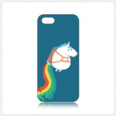 Come To Enjoy High Quality And Fast Delivery Of Fat Unicorn On Rainbow Pattern Case for iPhone5/5S BTG Here!