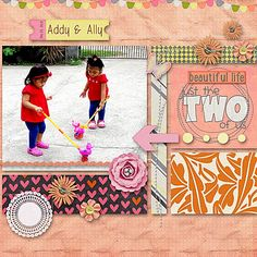 Addy & Ally using Clarity by Chere Kaye Designs at Gotta Pixel. www.gottapixel.net/