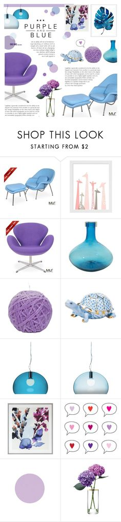 """""""Purple and Blue"""" by c-silla ❤ liked on Polyvore featuring interior, interiors, interior design, home, home decor, interior decorating, womb, NOVICA, Missoni and Herend"""
