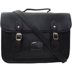 fc04a4759b UKFS Vintage Ex-LARGE Unisex Faux Leather 15 Satchel School University Bag