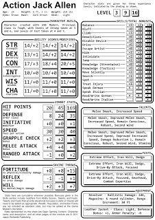 Quick Hit Meet The D20 Character Sheet Character Sheet